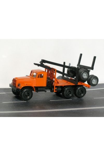 Auto 129327 Автомобиль КрАЗ лесовоз кабина  оранж 1/87
