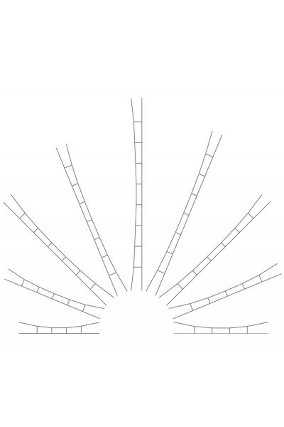 Viessmann 4152 Набор траверс 190-210мм 5шт 1/87