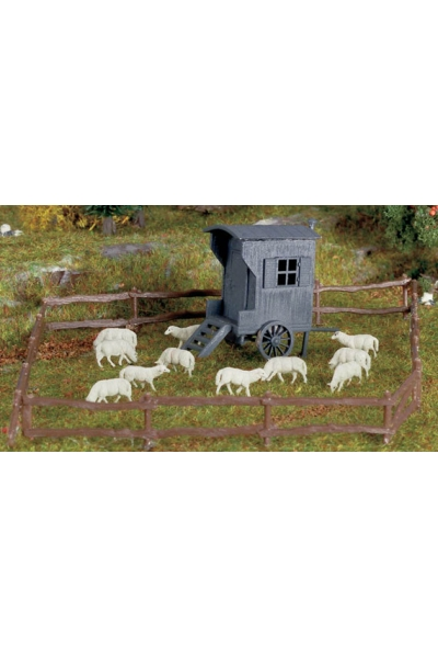 Vollmer 3742 Загон стадо овец и вагона пастуха  1/87