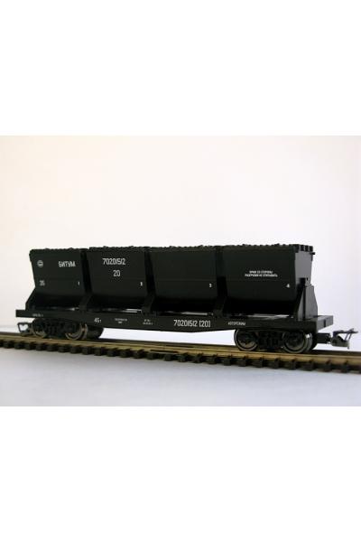 Пересвет 3821 Вагон для битума РЖД эп.V 1/120