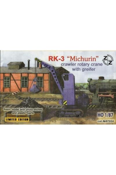 ZZ 87024 Модель крана RK Michurin Эпоха III-V 1/87